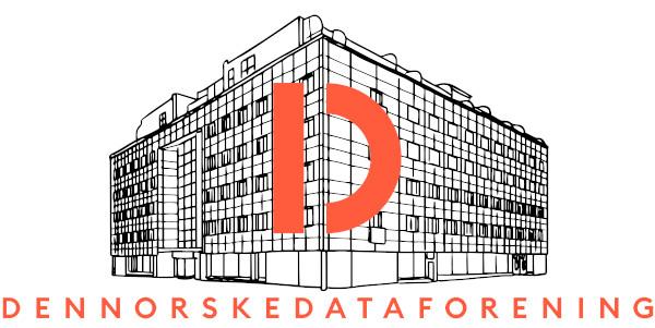 Stilisert bygning med DND-logoen limt over.