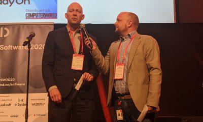 Jens Christian Bang og Dag Rustad i Digitaliseringspådden introduserte seg selv ved å intervjue hverandre