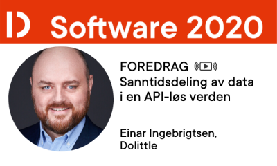 Einar Ingebrigtsen, foredragsholder Software 2020