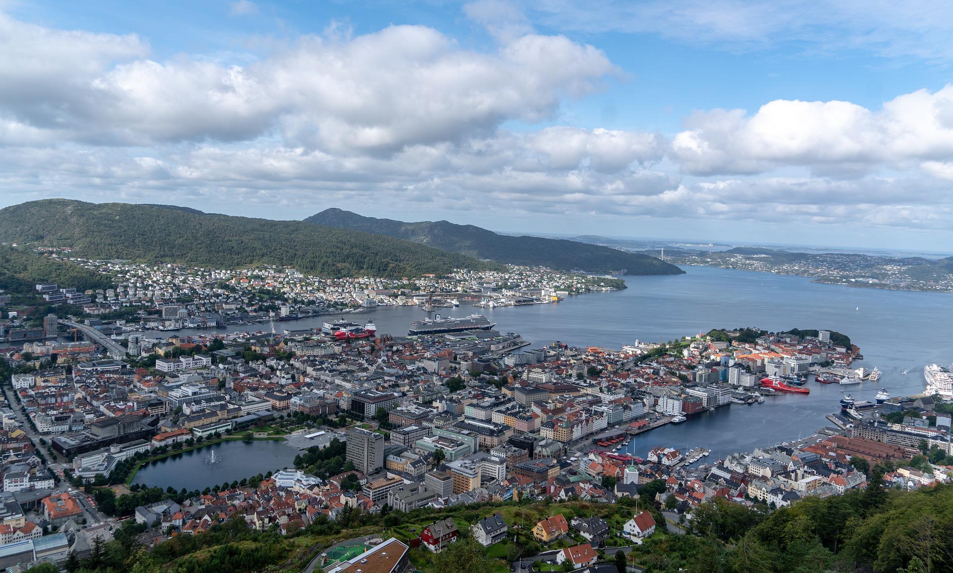 Bergen sett ovenfra